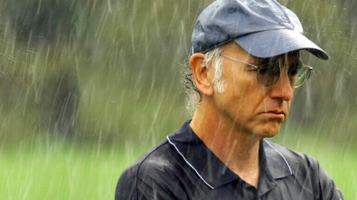 Image result for larry david in the rain gif