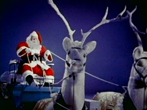 Santa and his styrofoam reindeer.