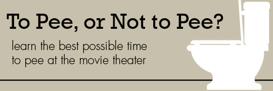 Peeing the cinema seat